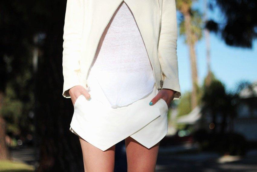 zara folded skirt