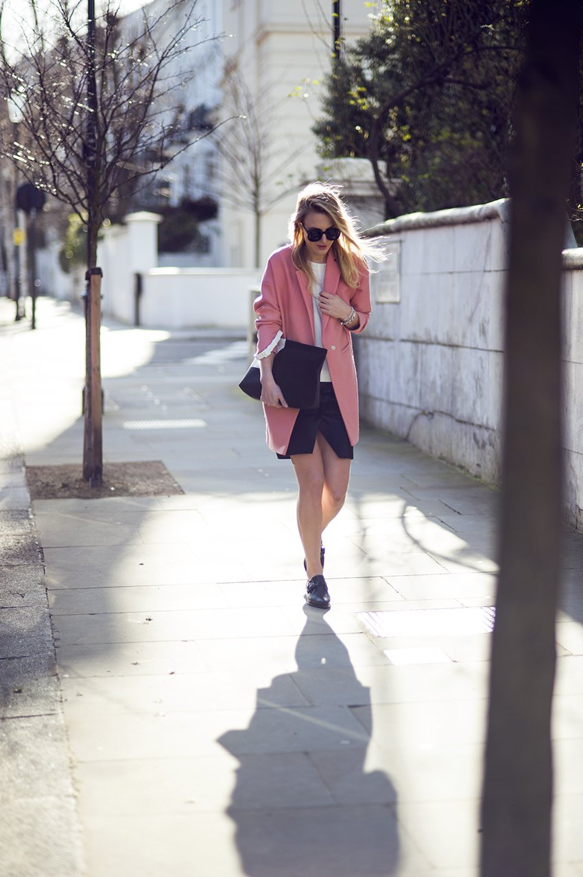 whistles coat pink