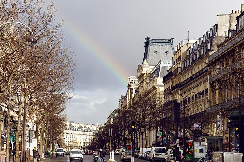 paris streets rainbow