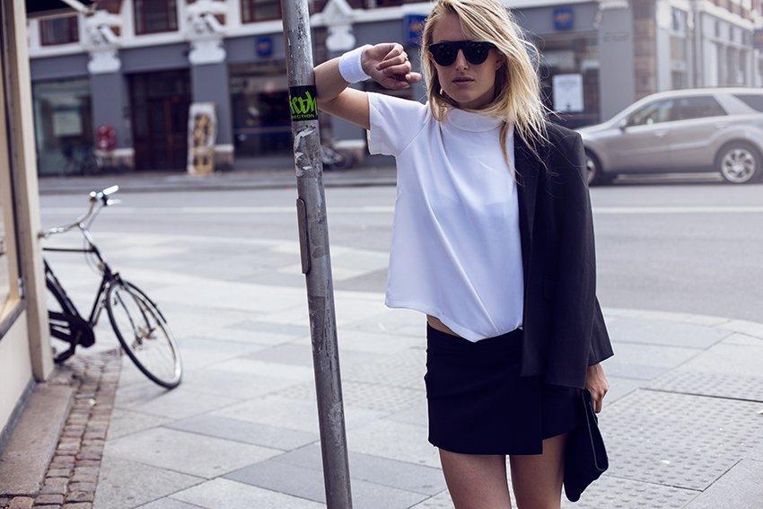 ganni skirt black