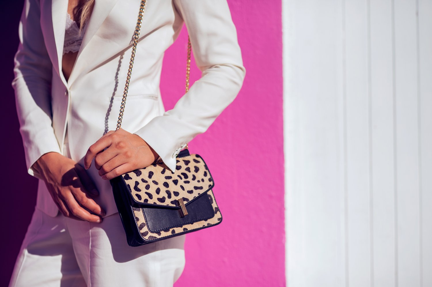 reiss leopard bag