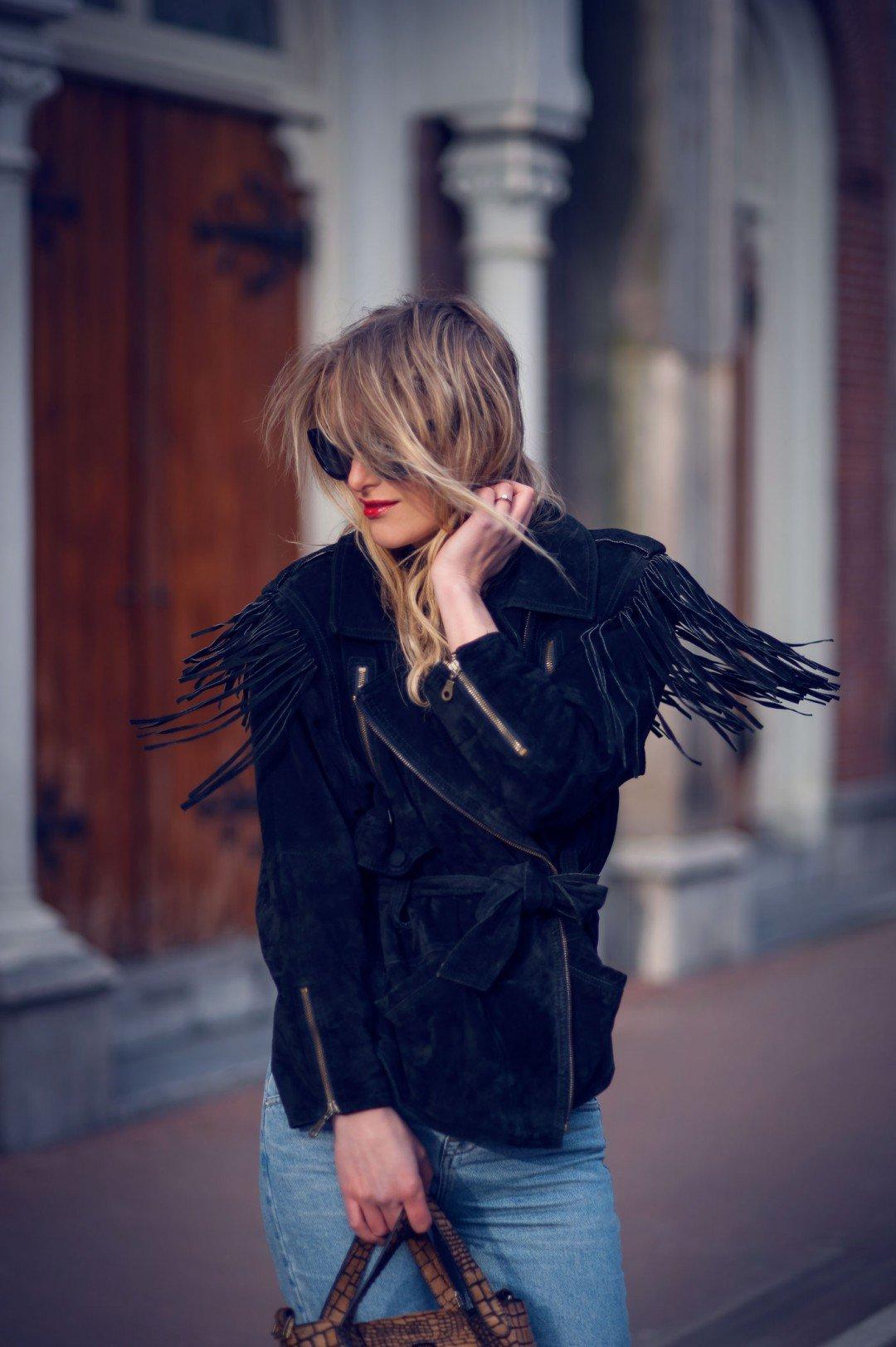 vintage fringe jacket