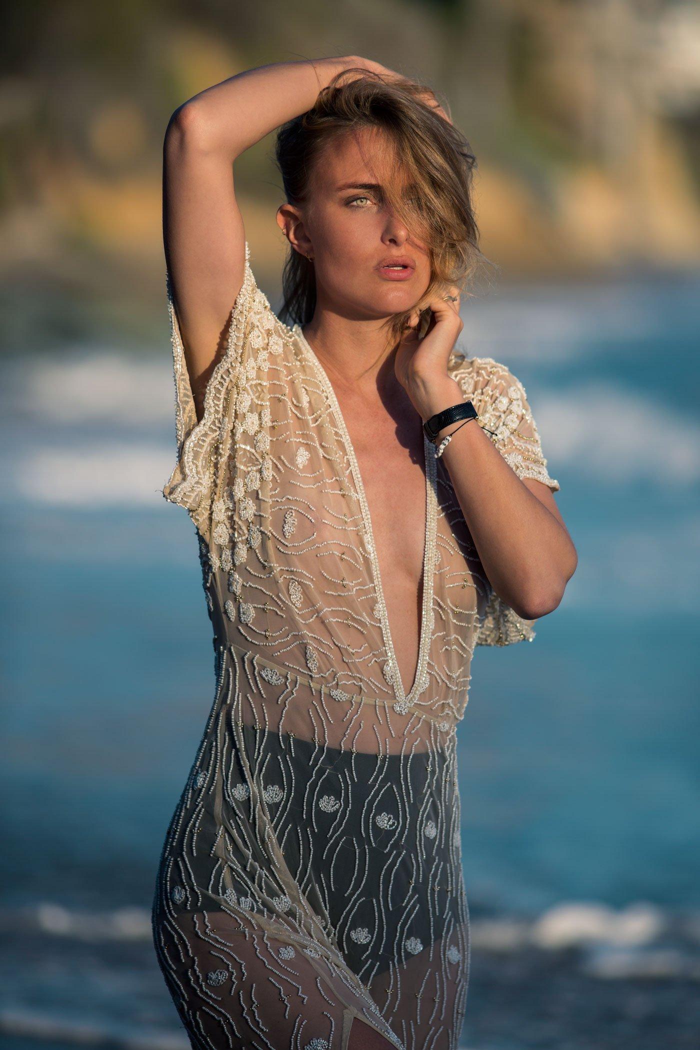 rebecca laurey beaded dress