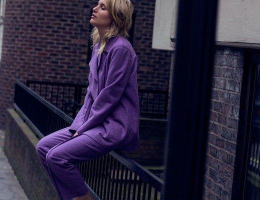 rebecca laurey purple suit