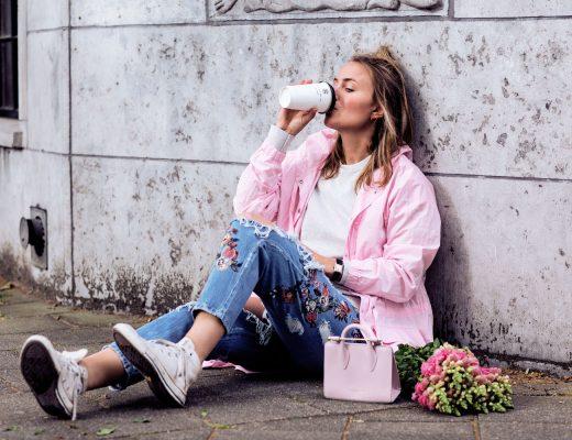 rebecca laurey pink coat