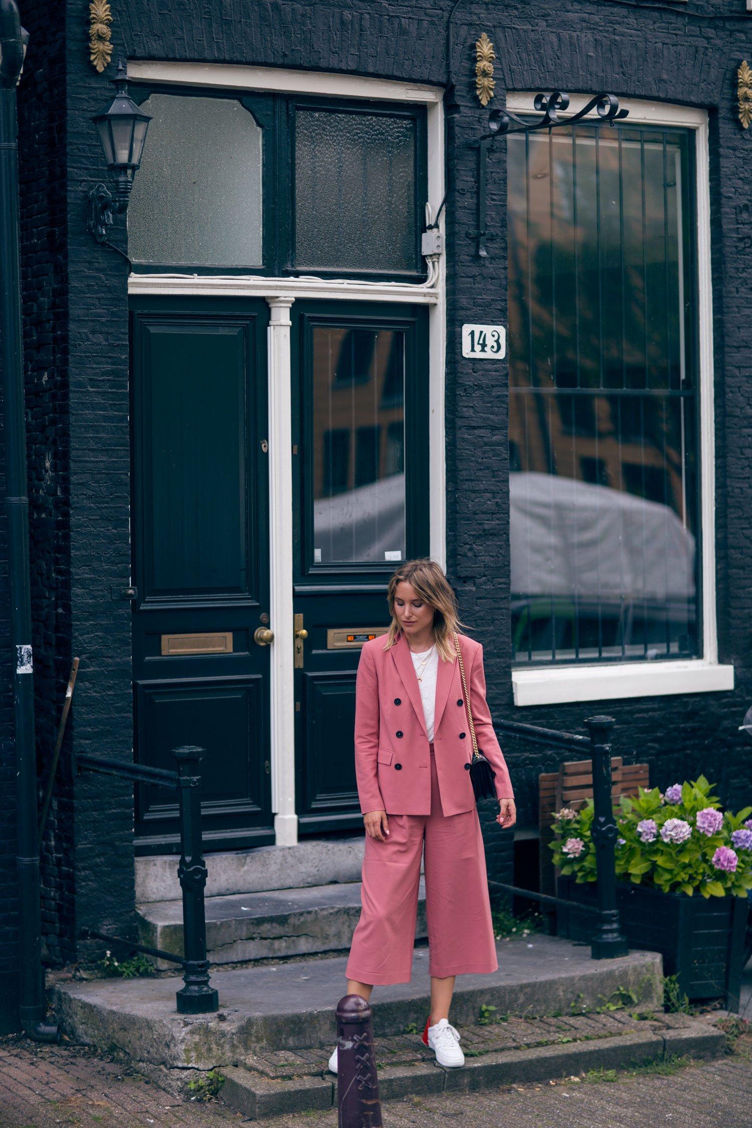 rebecca laurey pink suit